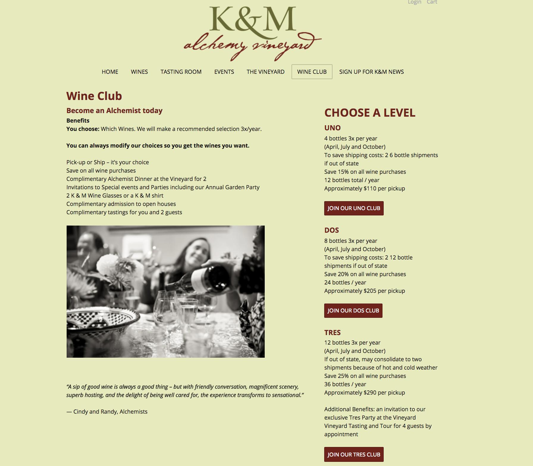 K & M Wine Club