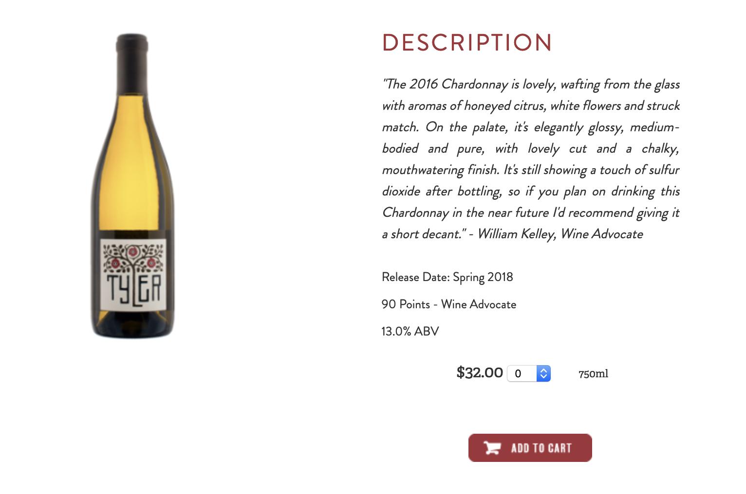 Tyler 2016 Chardonnay