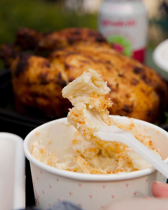 Cheesy, saucy, guilt-free comfort. Our Mac & Cheese is the perfect dinner partner to our whole roasted birds.