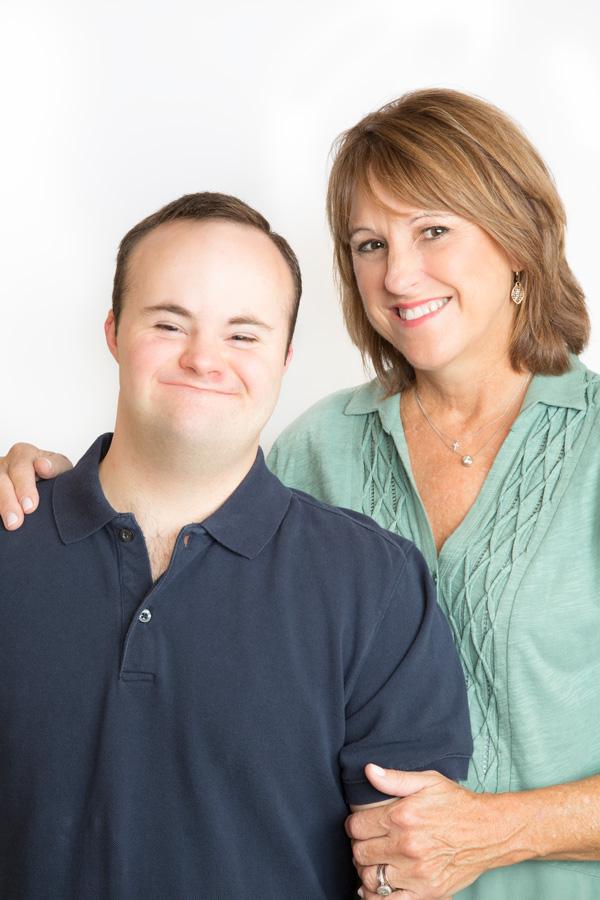 Executive Director Cindy Boynton and her son, Drew