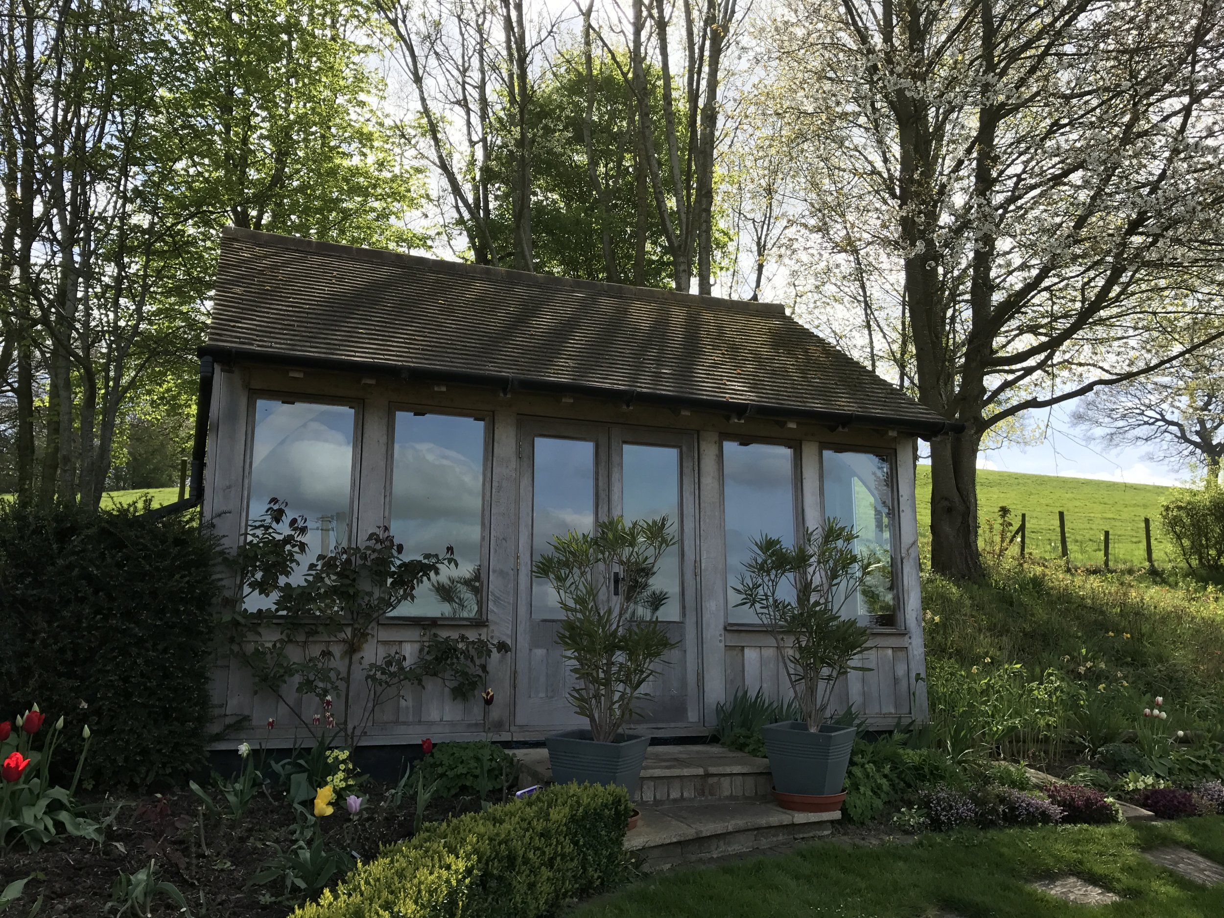 Beautiful setting for the summerhouse