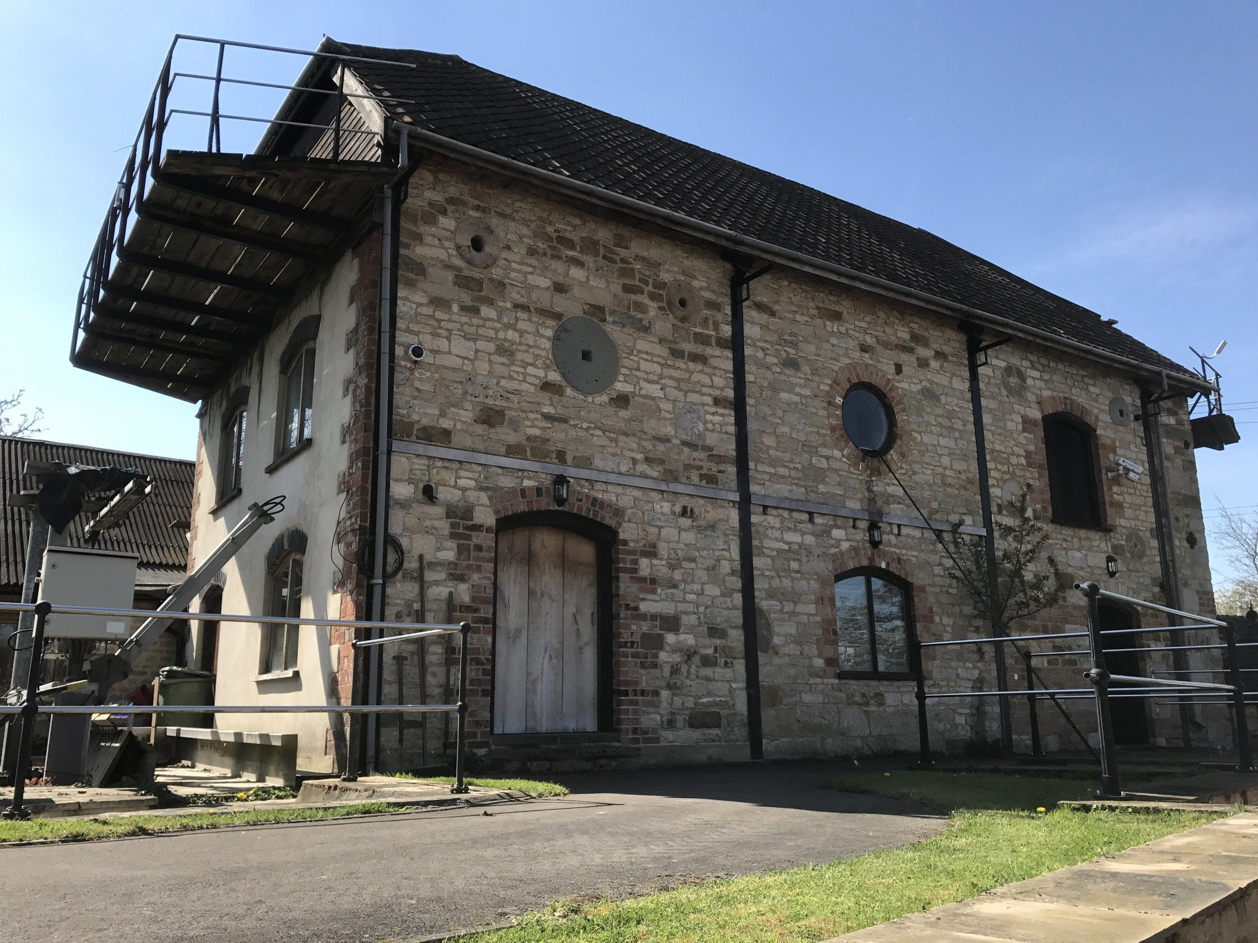 External shot of converted farmhouse