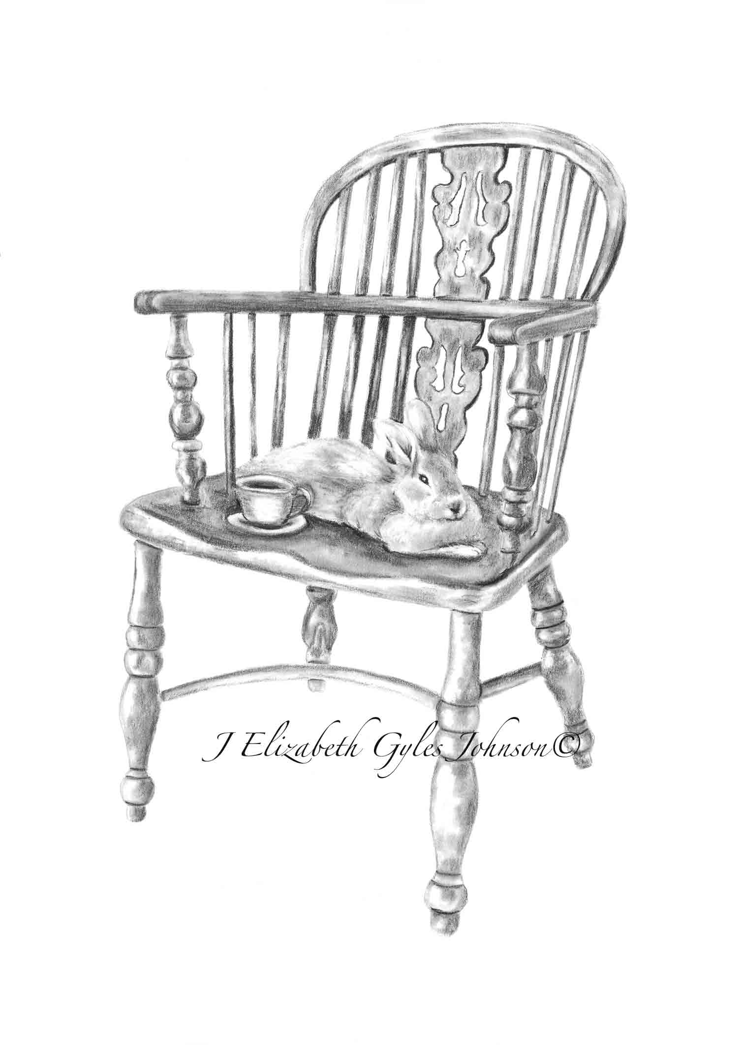 Bunny and Chair