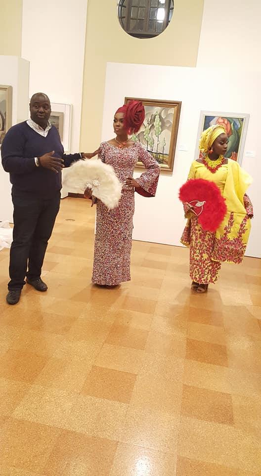 Nigerian Brides and the designer.