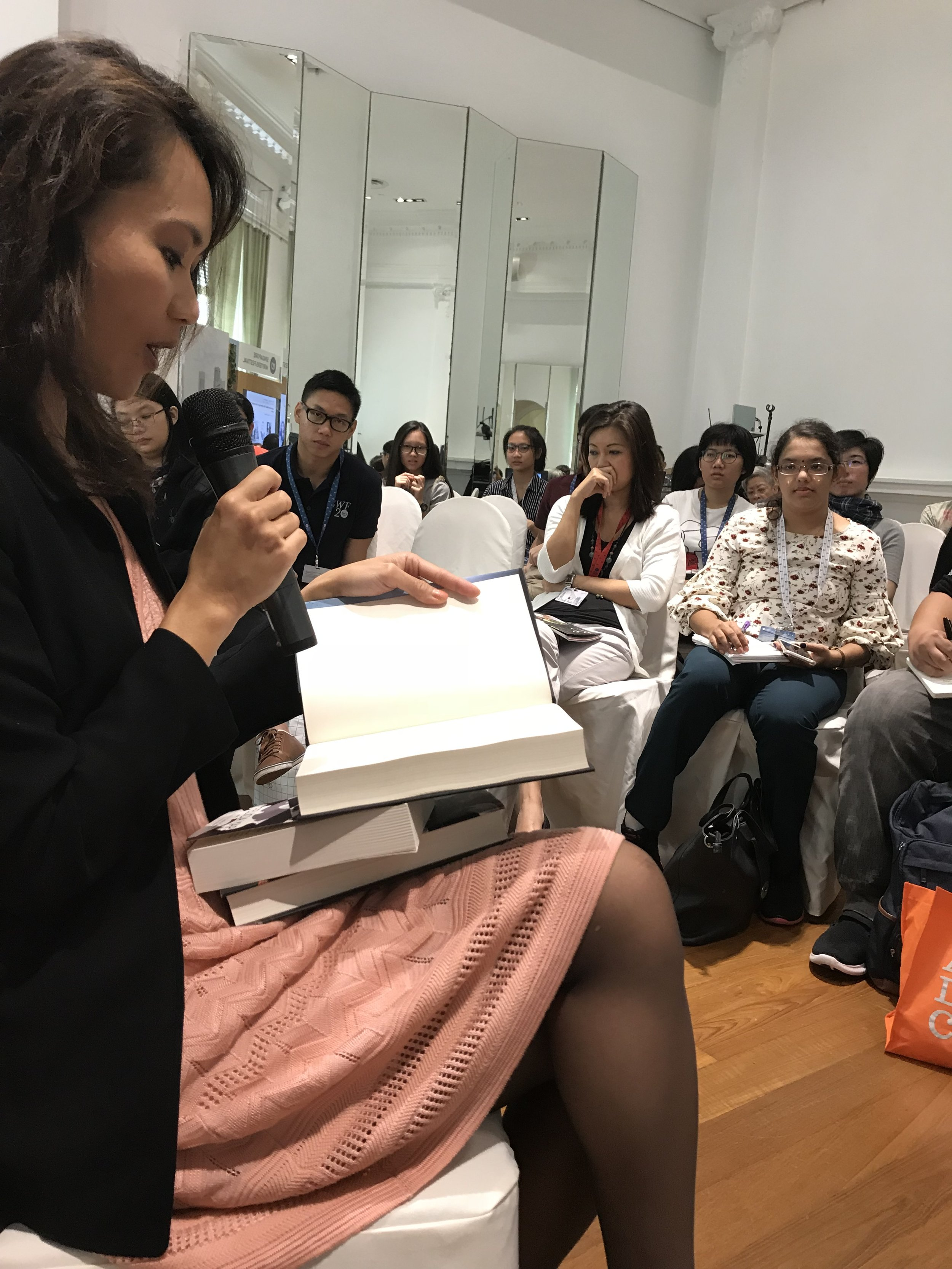 Felicia Yap reading from Yesterday