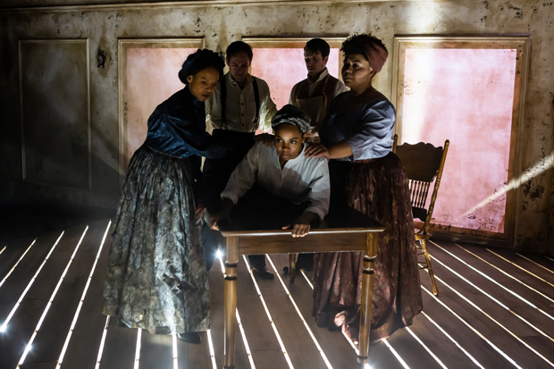 Charly Evon Simpson confronts the history of a great medical breakthrough by telling the forgotten story of a community of enslaved black women who involuntarily enabled the discovery. In 1840s Alabama, Philomena assists a doctor - her owner - as he performs experimental surgeries on her fellow slave women, trying to find a treatment for the painful post-childbirth complications known as fistulas. Reframing the origin story of modern gynecology,  Behind the Sheet  tells how these women supported each other, and questions who, and what, history remembers.  Take a look: https://www.youtube.com/watch?v=yxJ76CjV6HI
