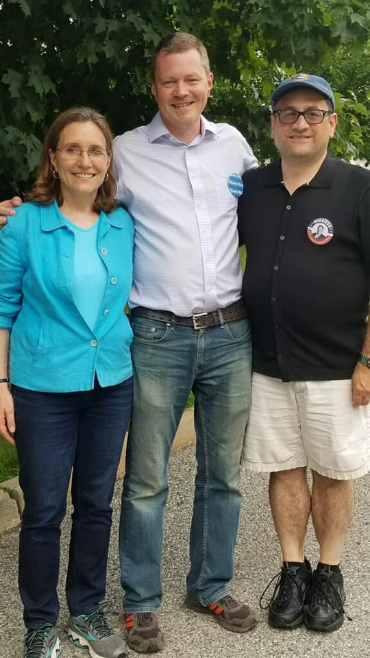 Canvassing Ward 4 with Karen Smythe and County Executive candidate Joe Ruggiero