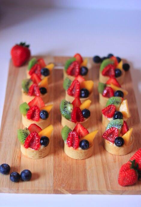 Almond & Custard Fruit Tarts
