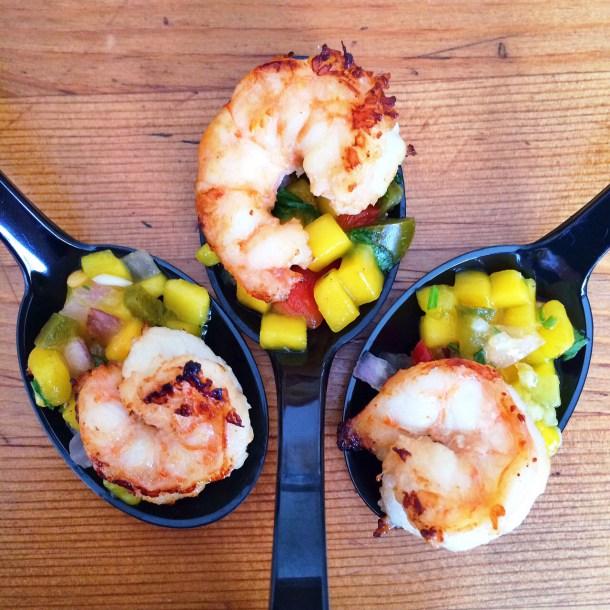 Shrimp with Mango & Avo Salsa