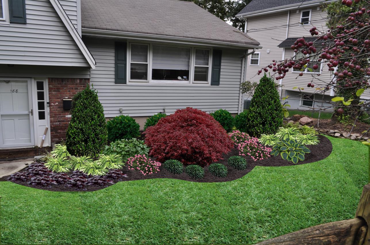 Front Yard Landscape Design, Cresskill