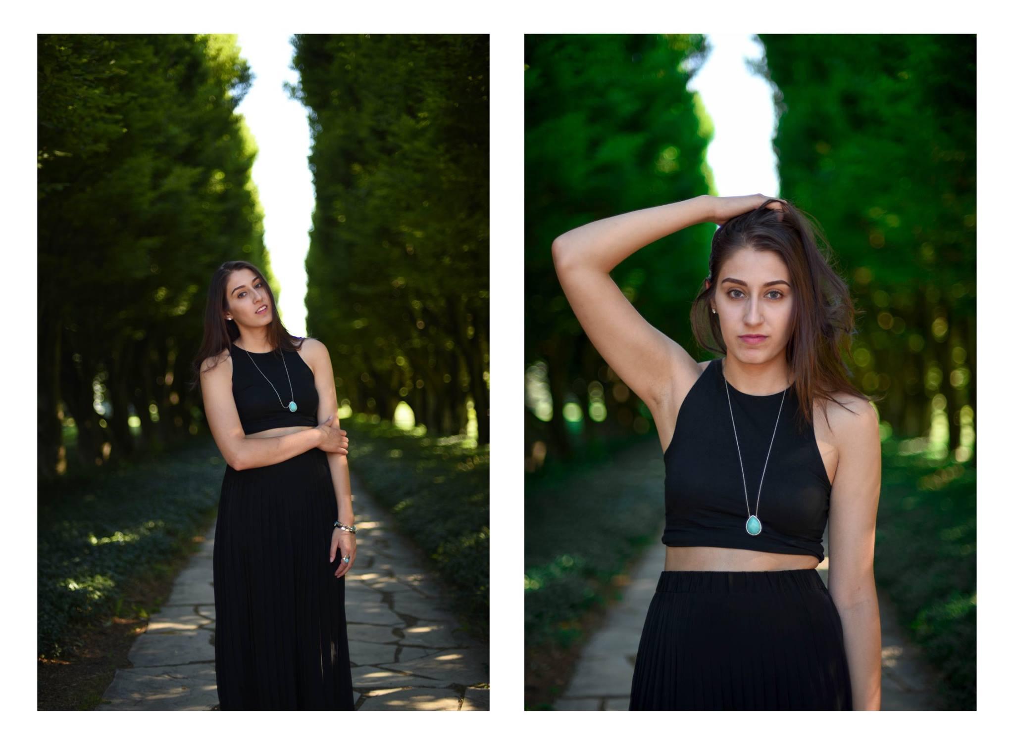 Photo-shoot for a modelling portfolio