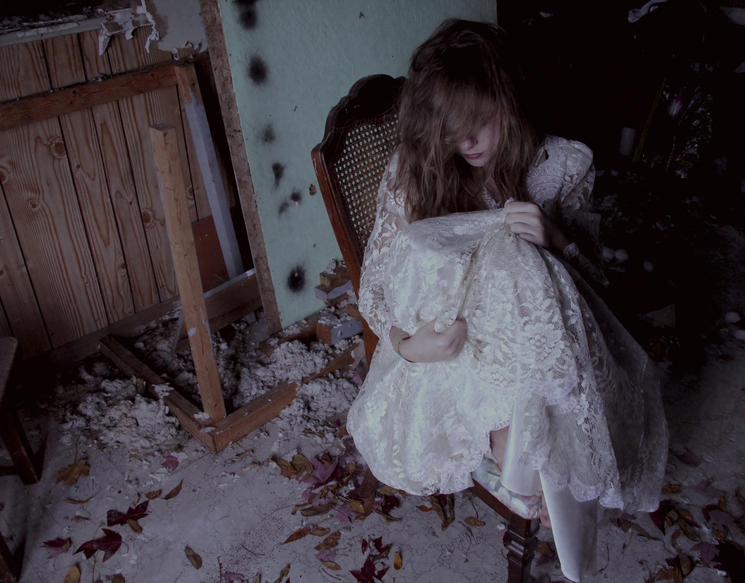 Inside an abandoned house.