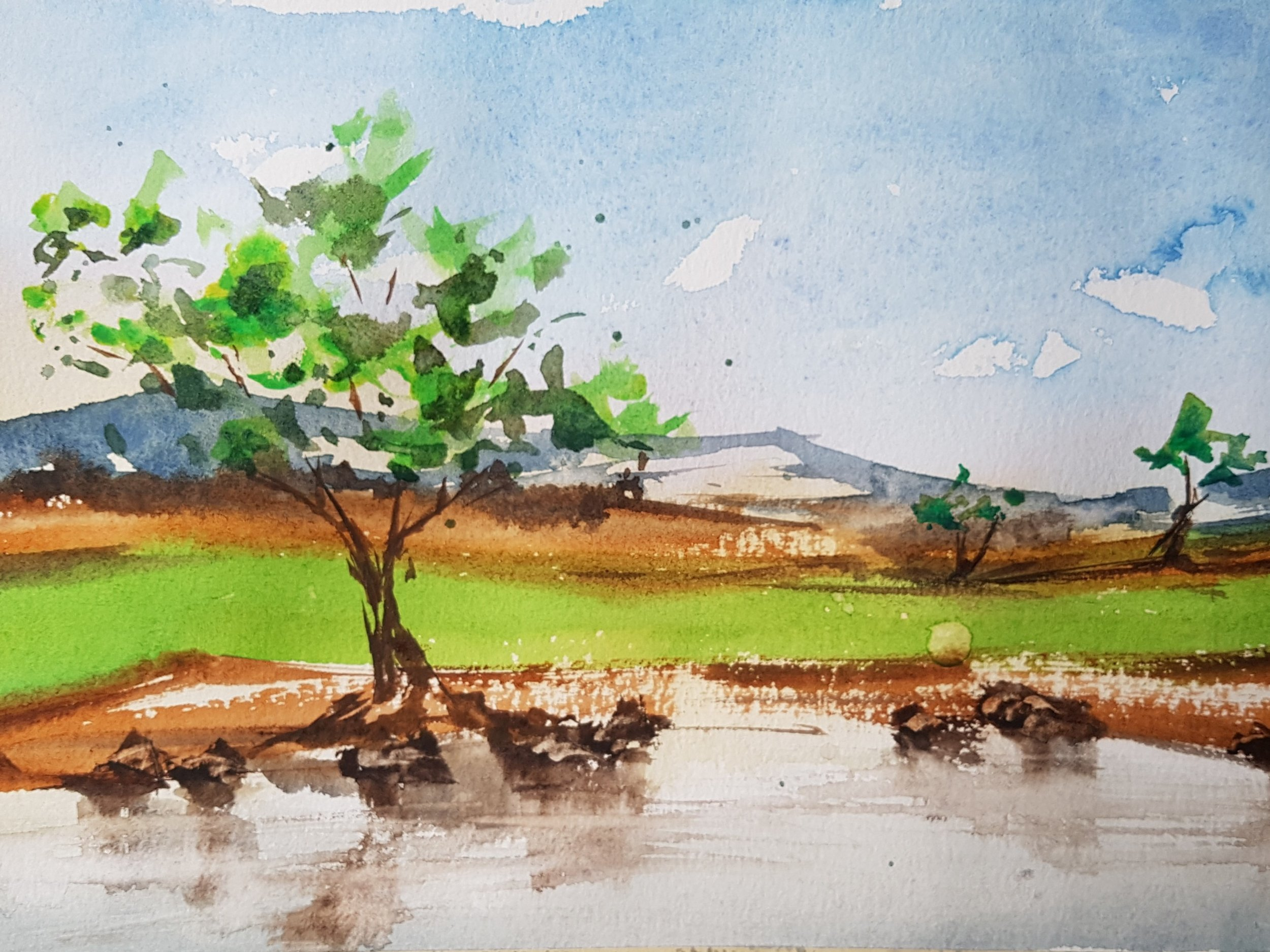 """""""Campagna"""" 5x7"""" [SOLD]"""