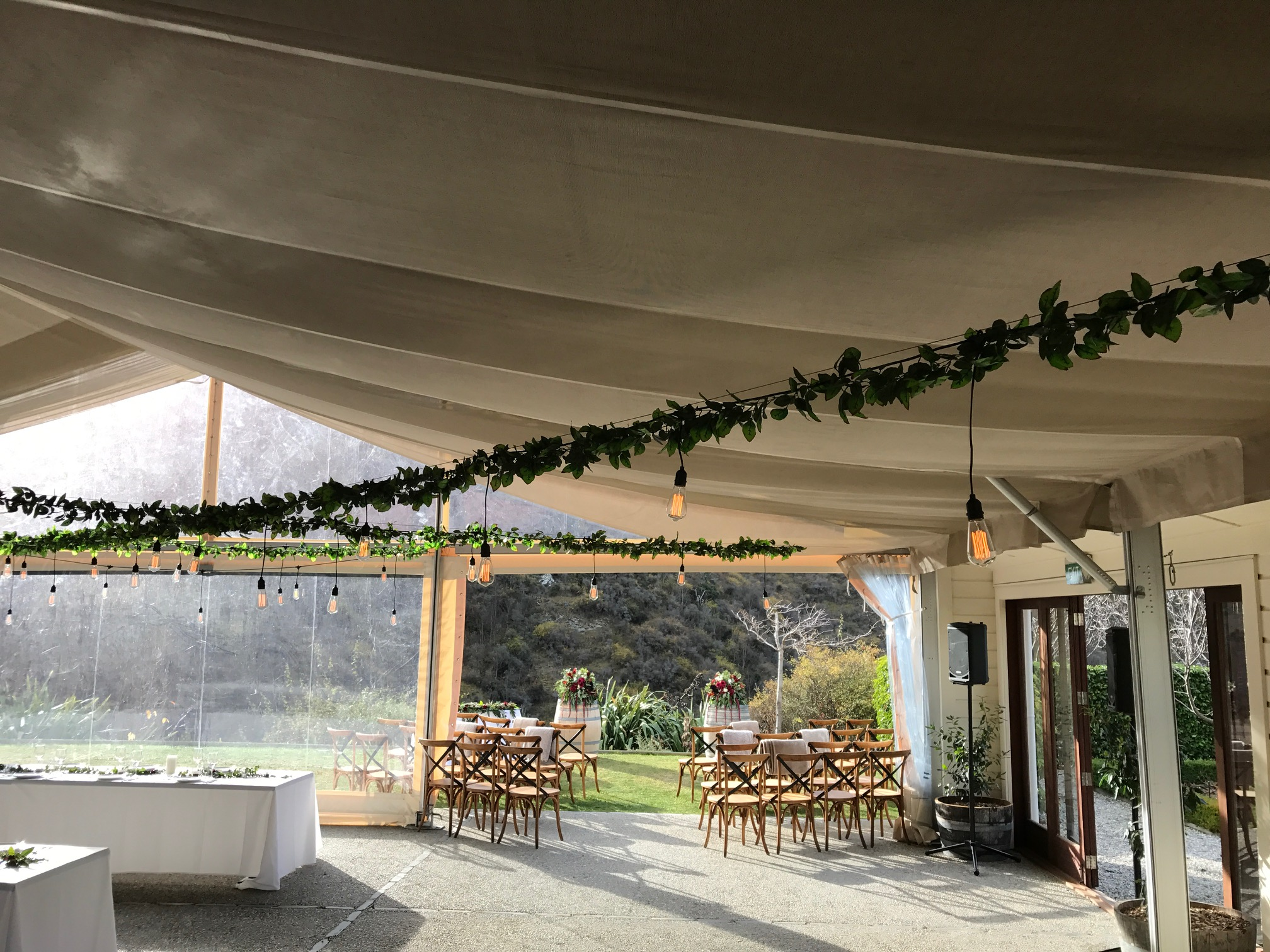 Festoons and artificial foliage at The Winehouse