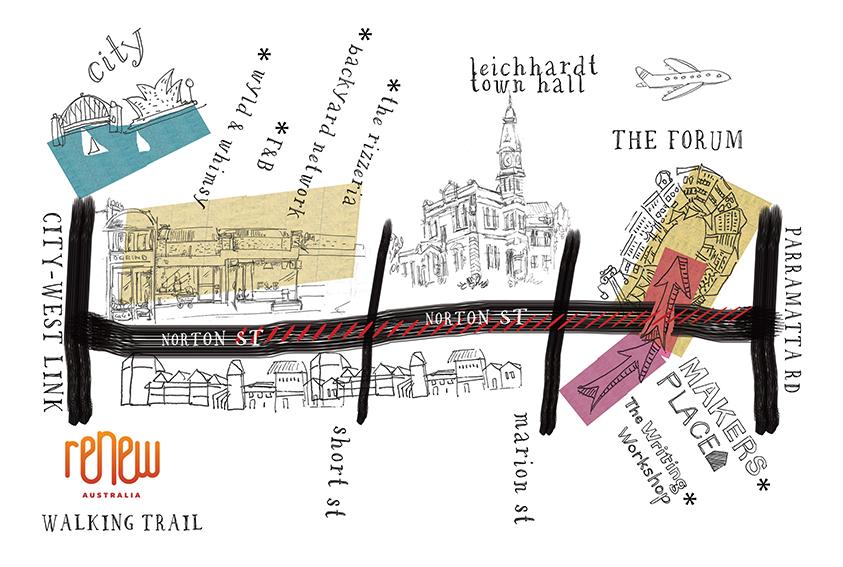 Renew Sydney Map illustration