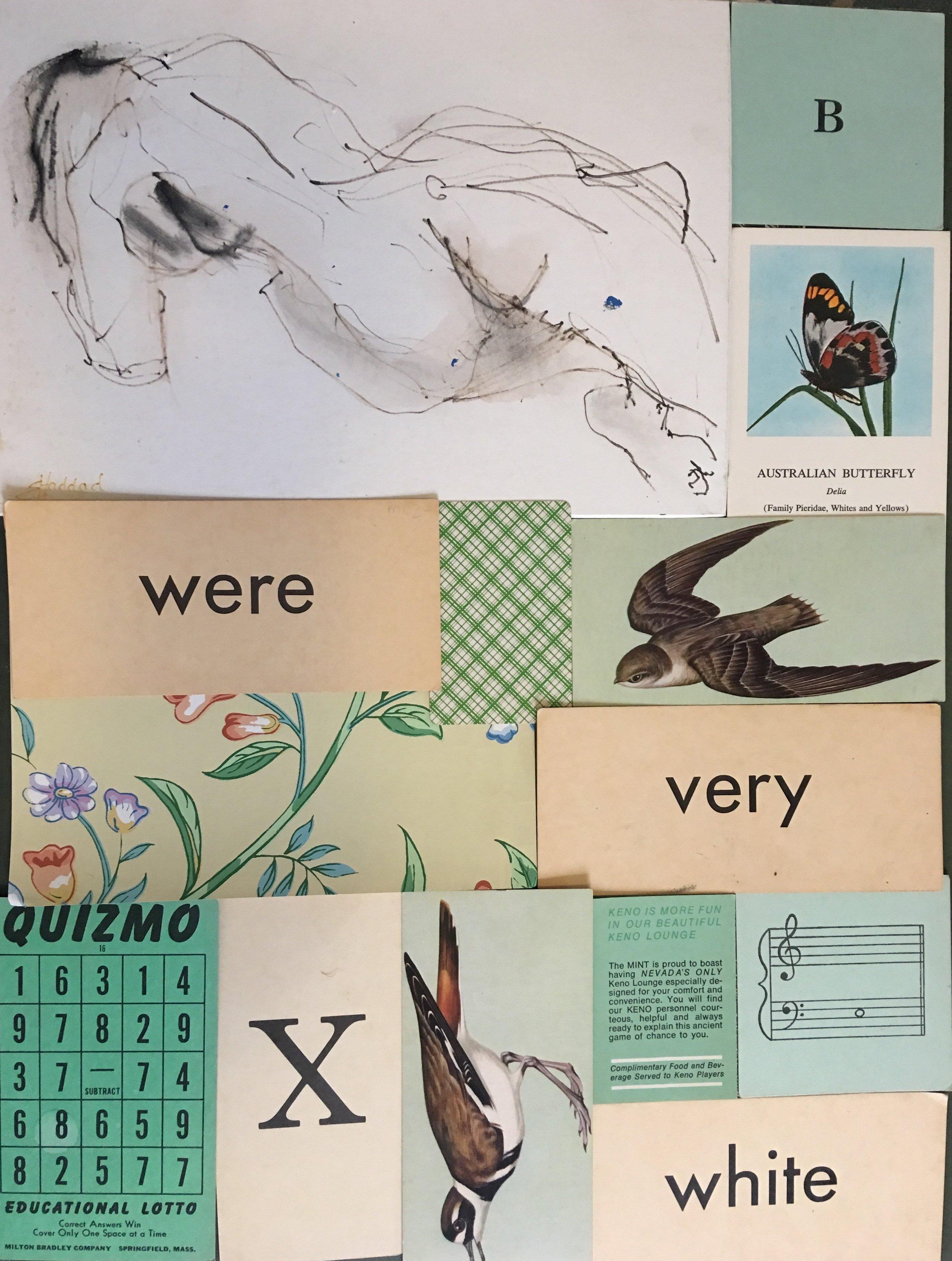 'found art' collage