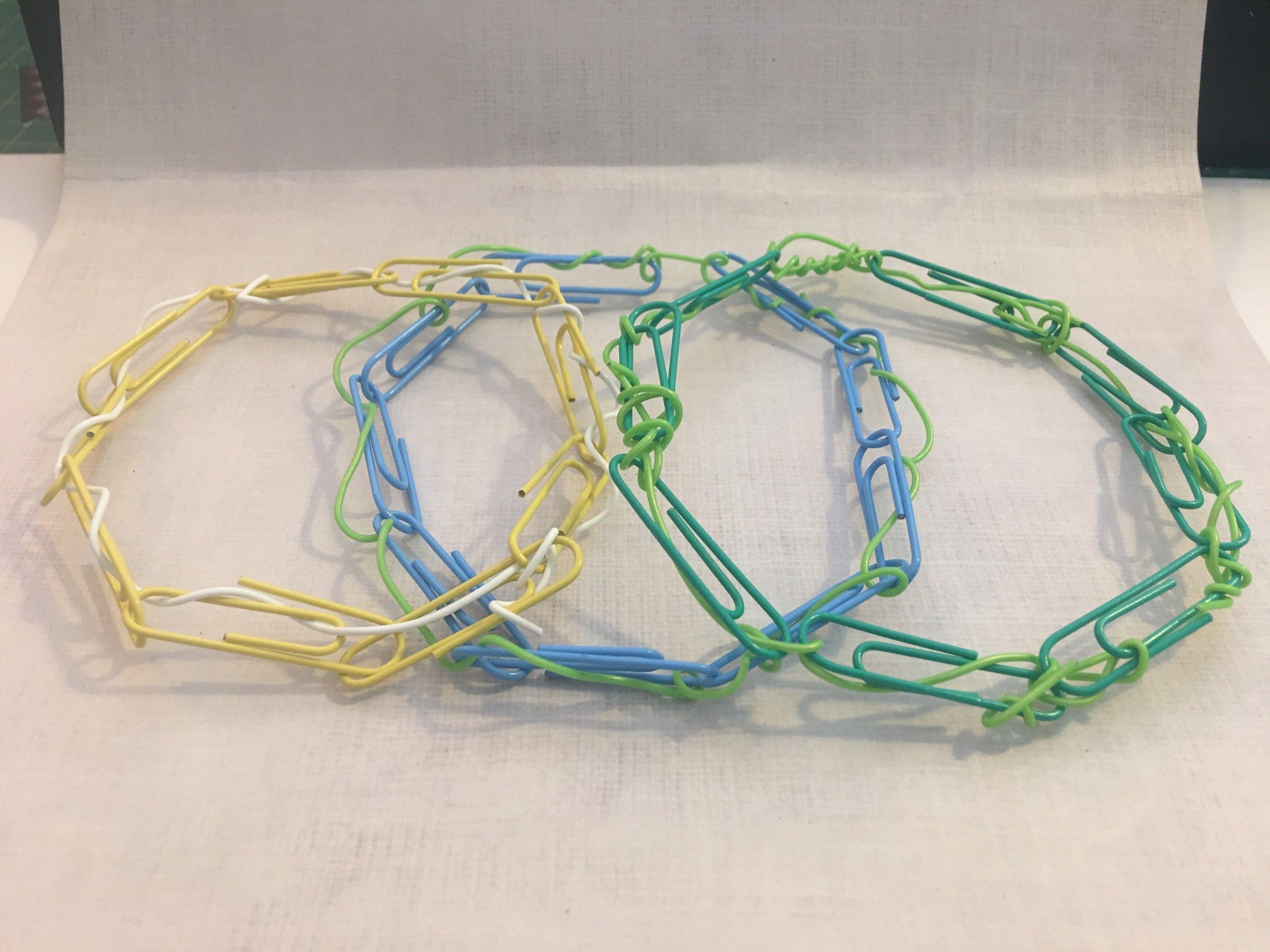 Paper clip bangles
