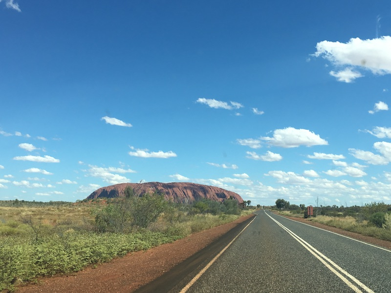 Our first view of Uluru