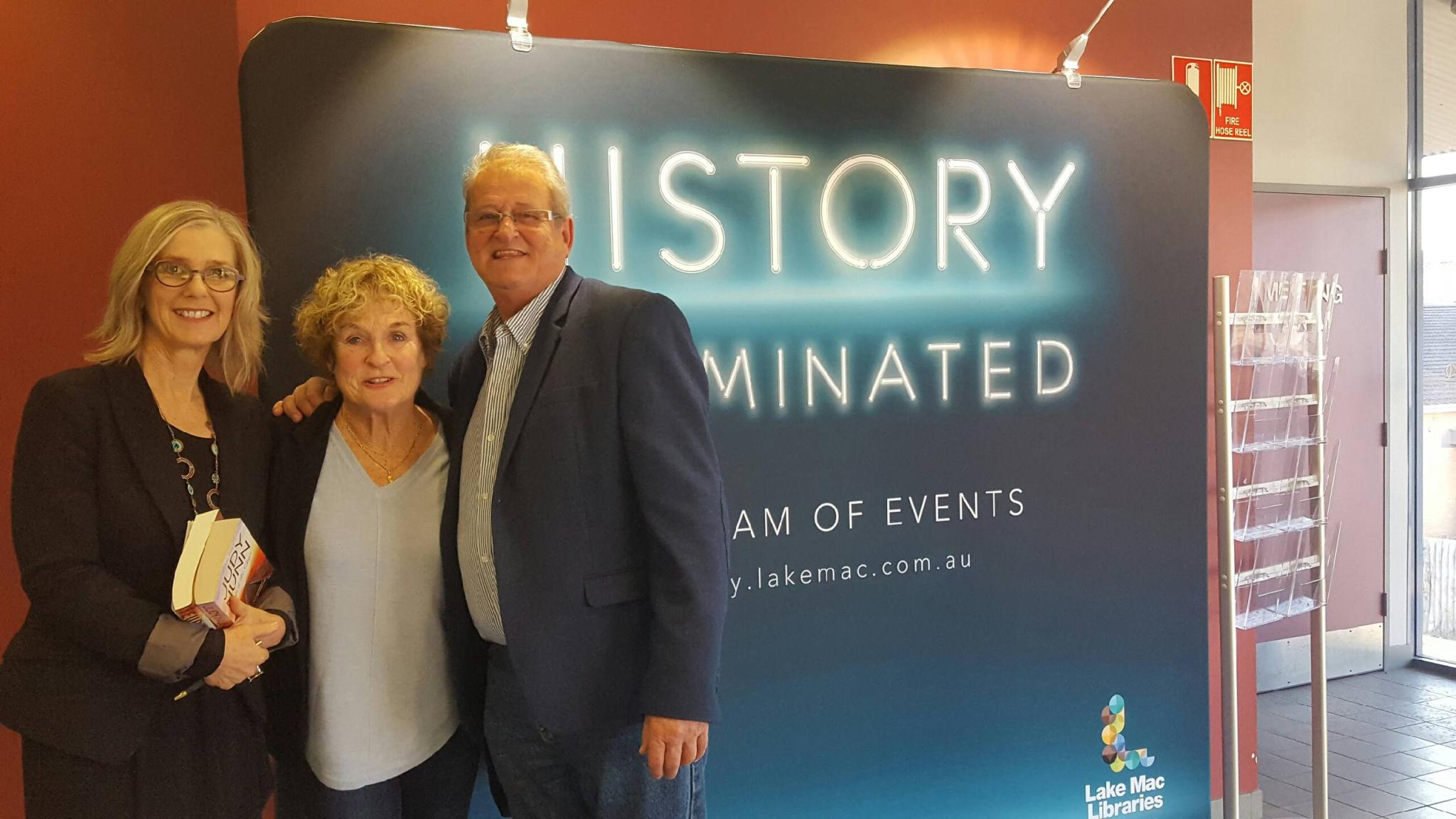 So much fun interviewing Judy Nunn and Bruce Venables at Belmont Library for History Illumated week at Lake Macquarie Libraries.