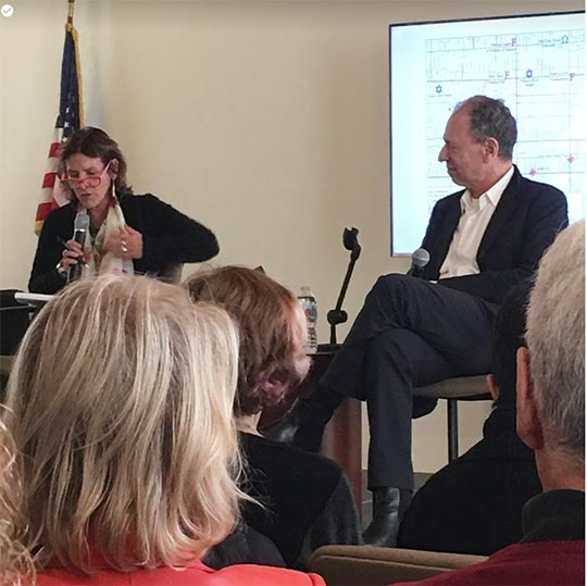 Andrea Grossman of Writers Bloc interviews Steve Ross (author of Hitler in Los Angeles) at the Friends' May Open Meeting
