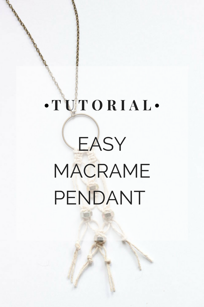 macrame necklace tutorial