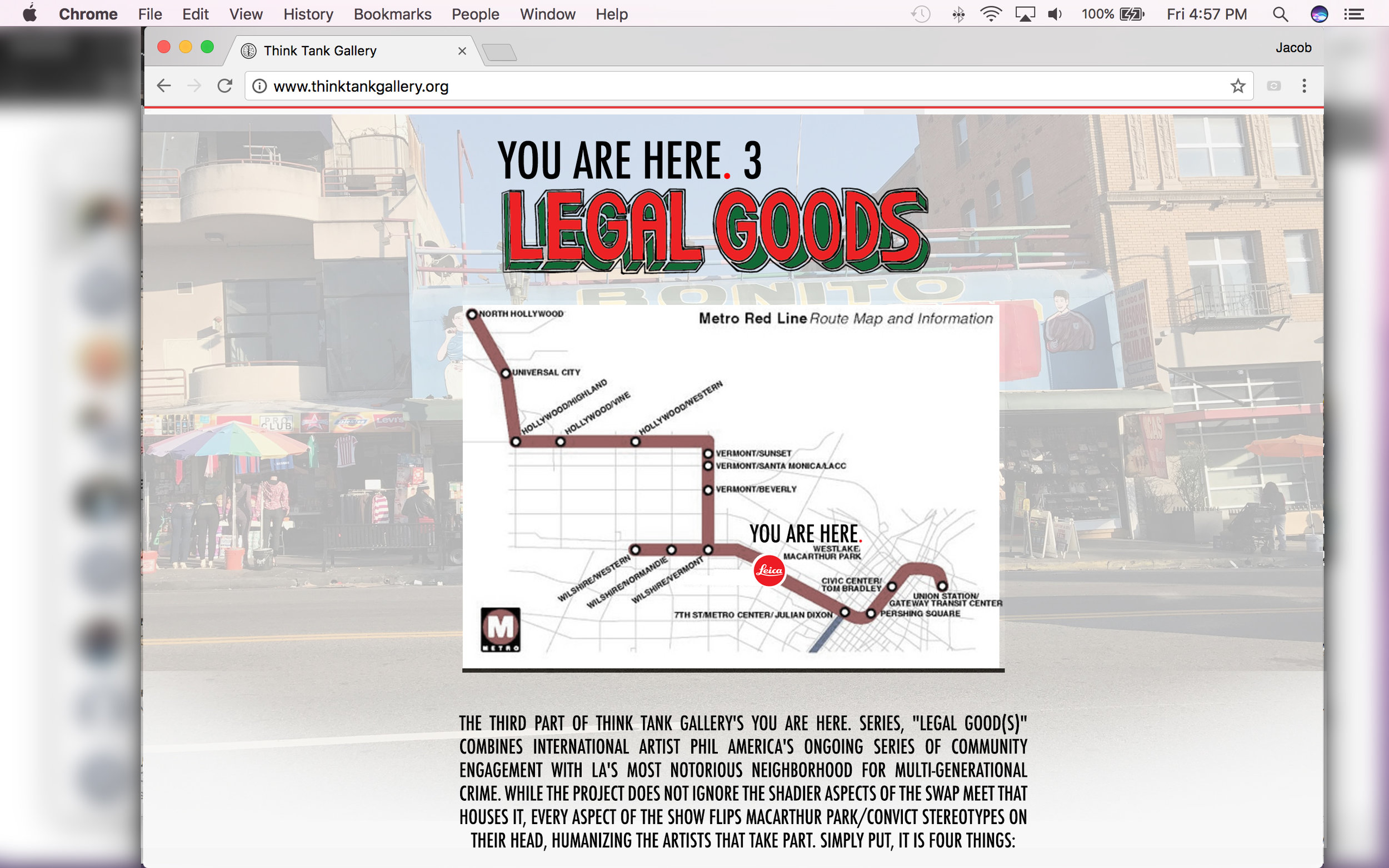 Mockup of YOU ARE HERE. 3 landing page.