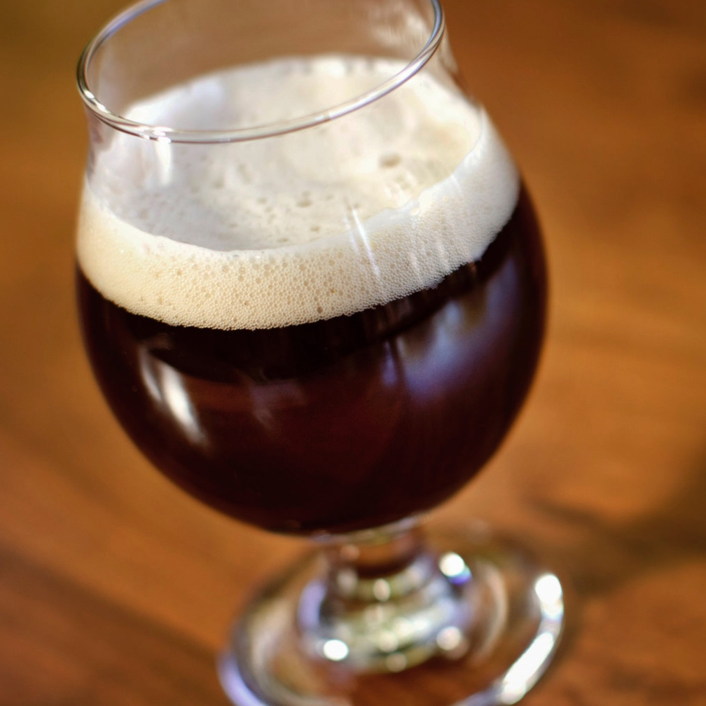 Glass of beer. Links to Barrel Aged beer descriptions.