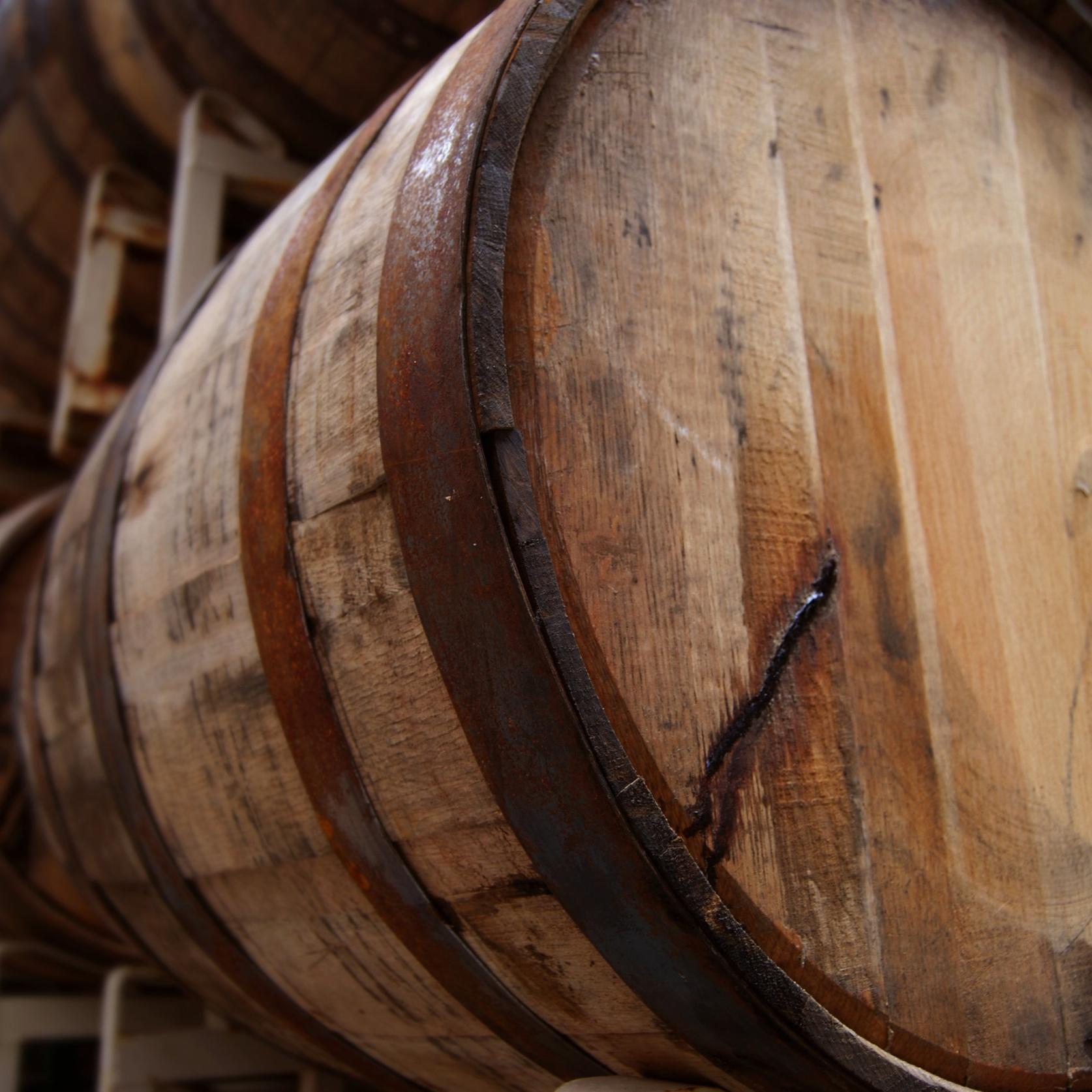 Image of oak fermenting barrel.