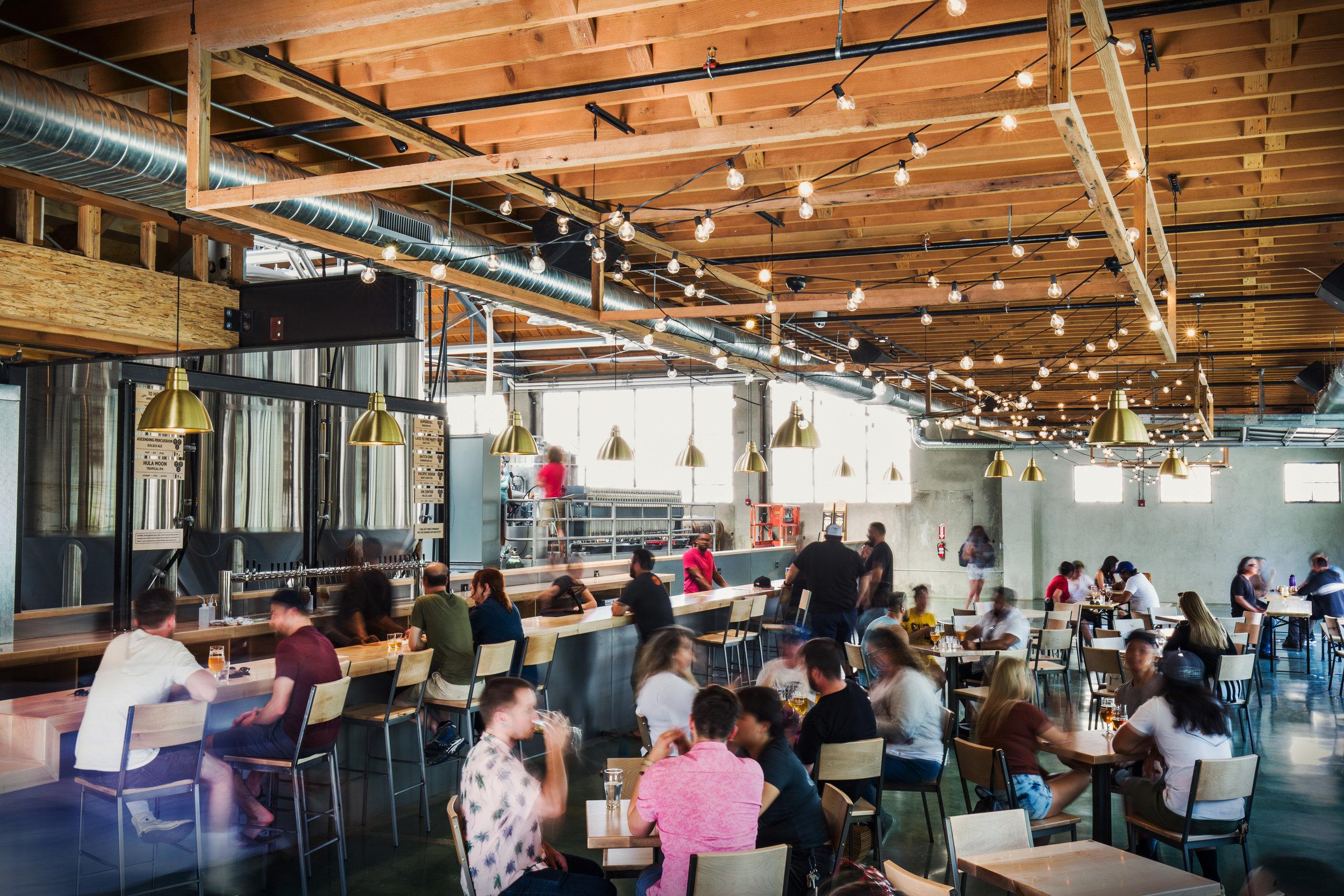 Image of Trademark Brewing tasting room.