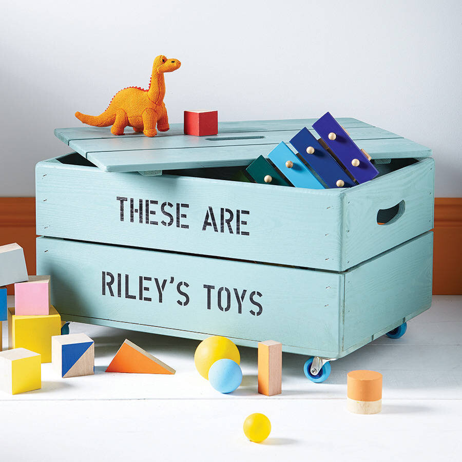 This is such a cute way to customize toy storage and also to encourage your little ones to clean up! Via:  Home BNC