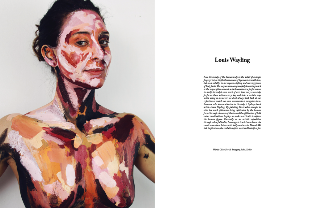In an interview with Australian artist Louis Wayling for Issue 3 of  Tidal  magazine, we talked about the unique evolution of his practice, that saw him move from the body to canvas.