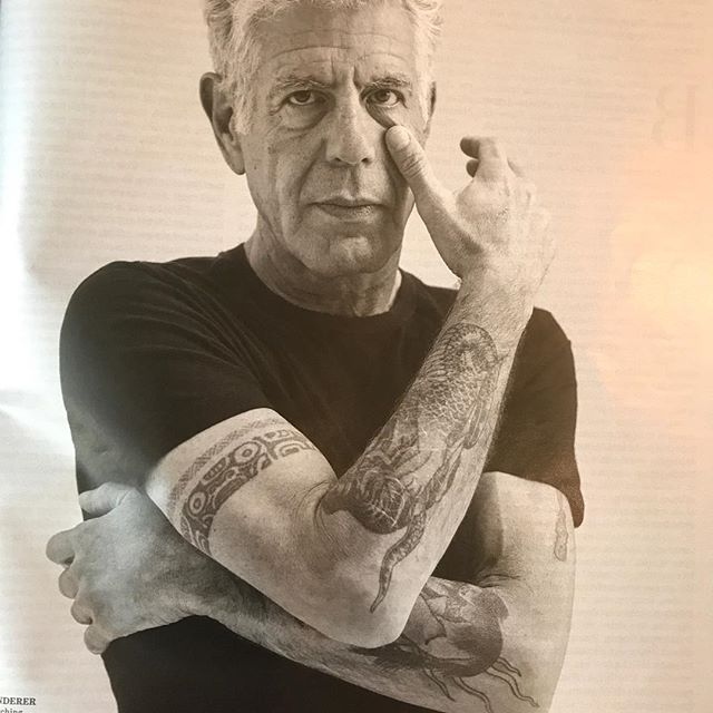 Hard to pick up an outdated magazine and read now past tense 'Anthony Bourdain continues his wrestles odyssey to understand our global community through food'. Miss him so.......