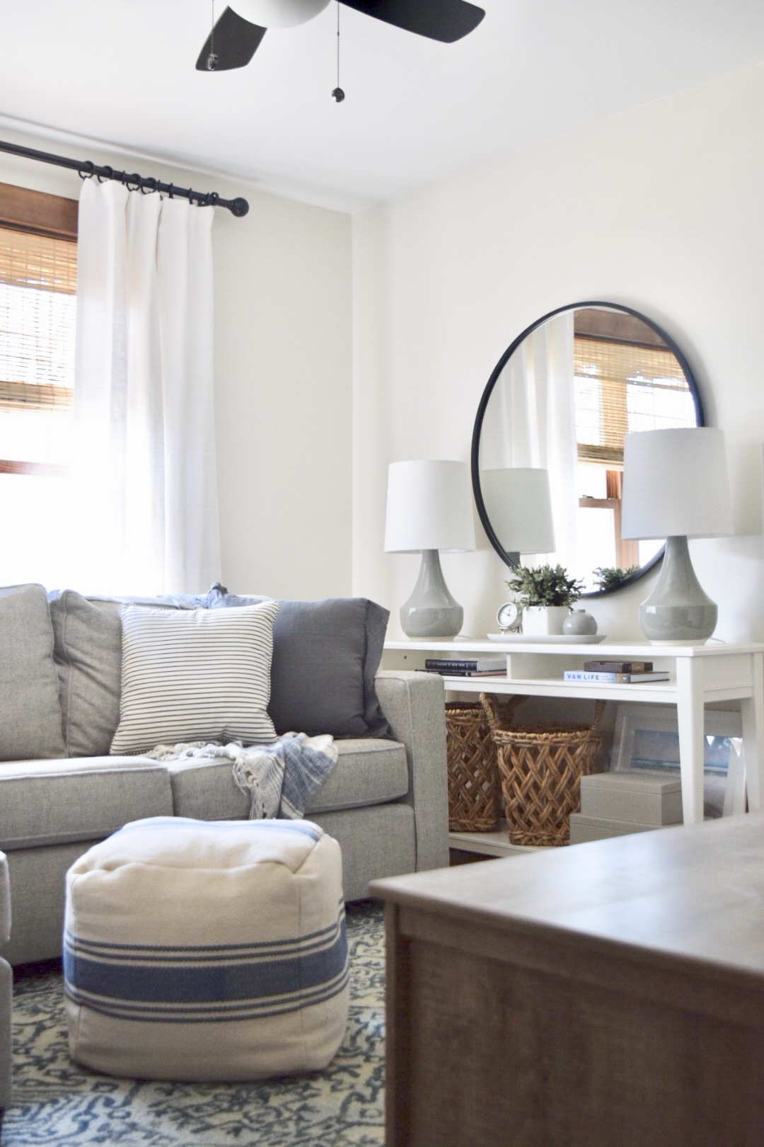 A Light Airy Coastal Media Room Interior Design Project by Christine McCall Home