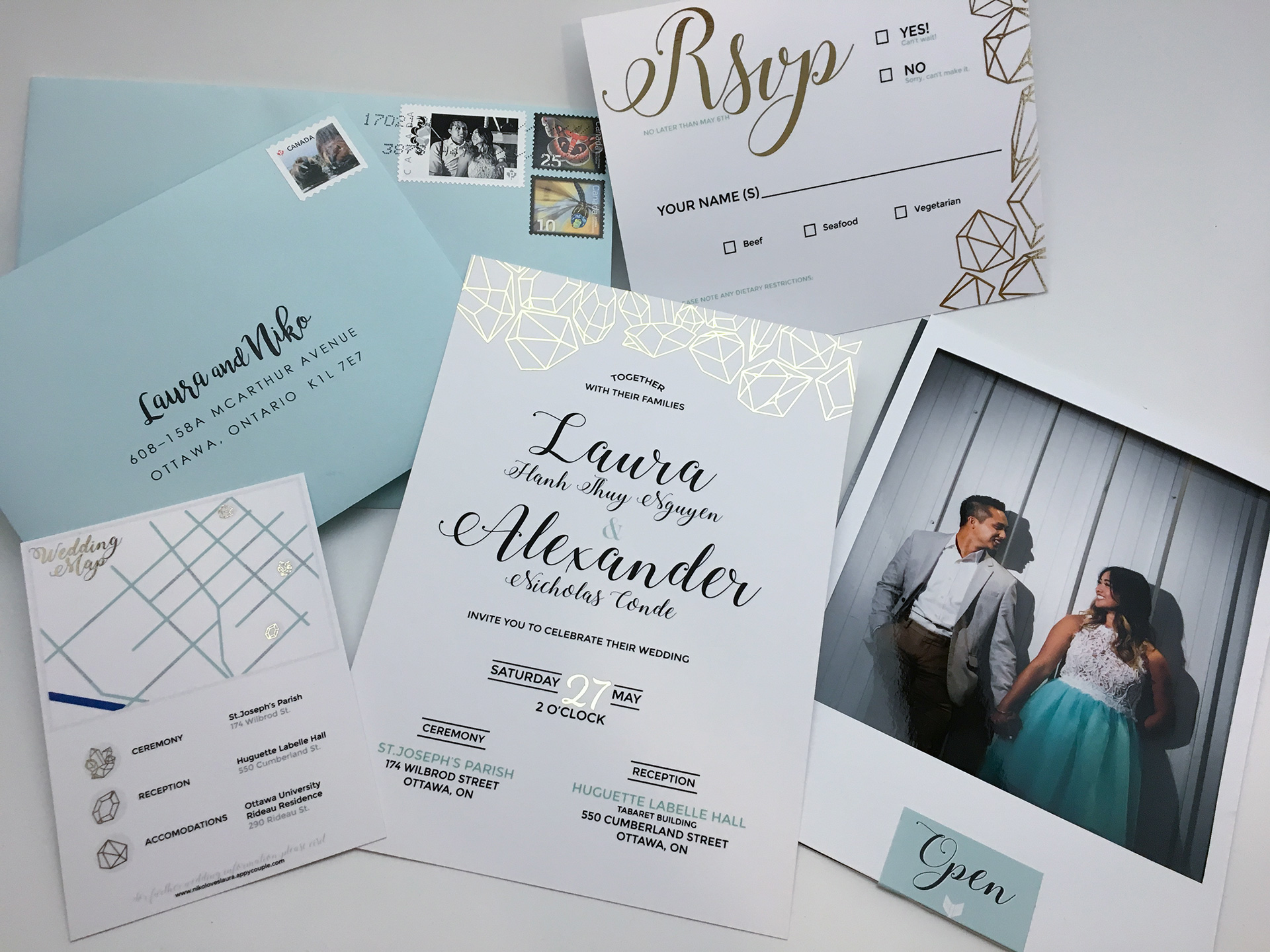 I had the opportunity to design wedding invitations for a personal client which included invitation cards, map cards, and the RSVP cards.