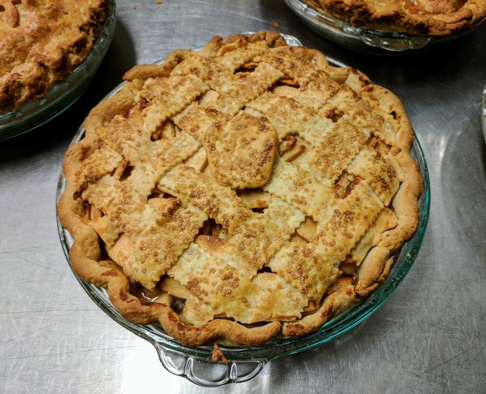Finished product from Apple Pie Class at Pacific Pie in Portland, OR.