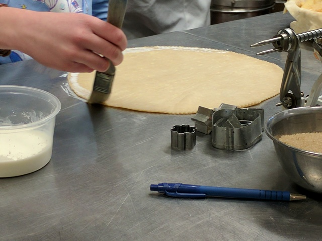 Top crust brushed with half & half.
