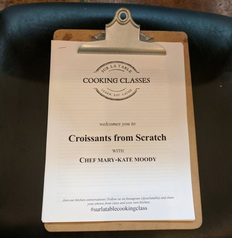 Packet full of recipes and baking tips for croissants from scratch!