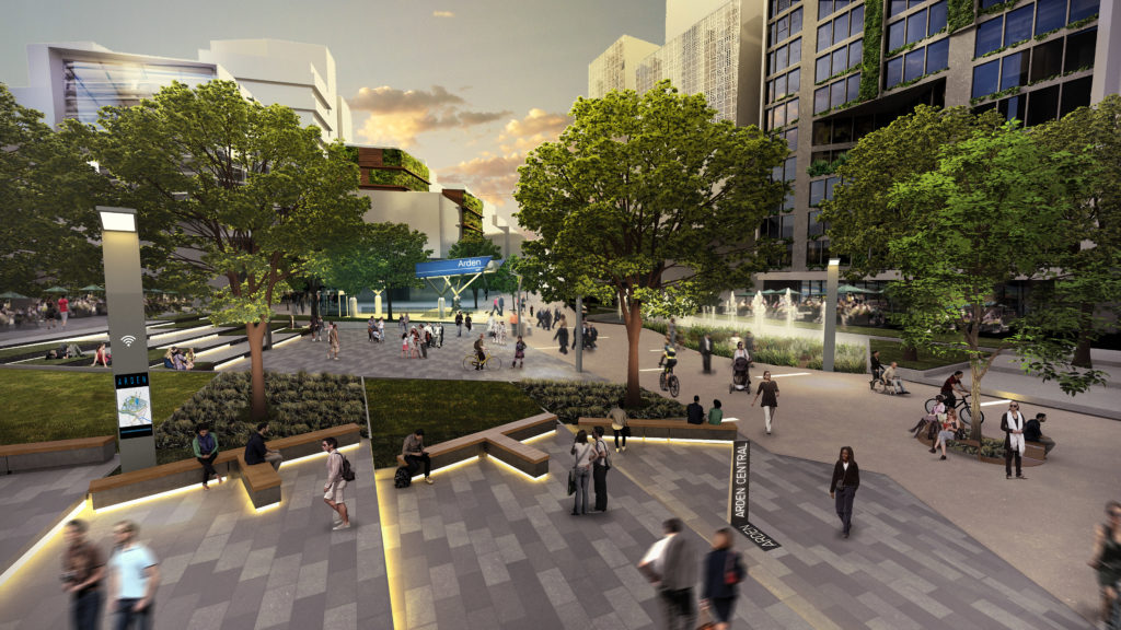 Artist's impression of Arden central, by the Victorian Planning Authority.