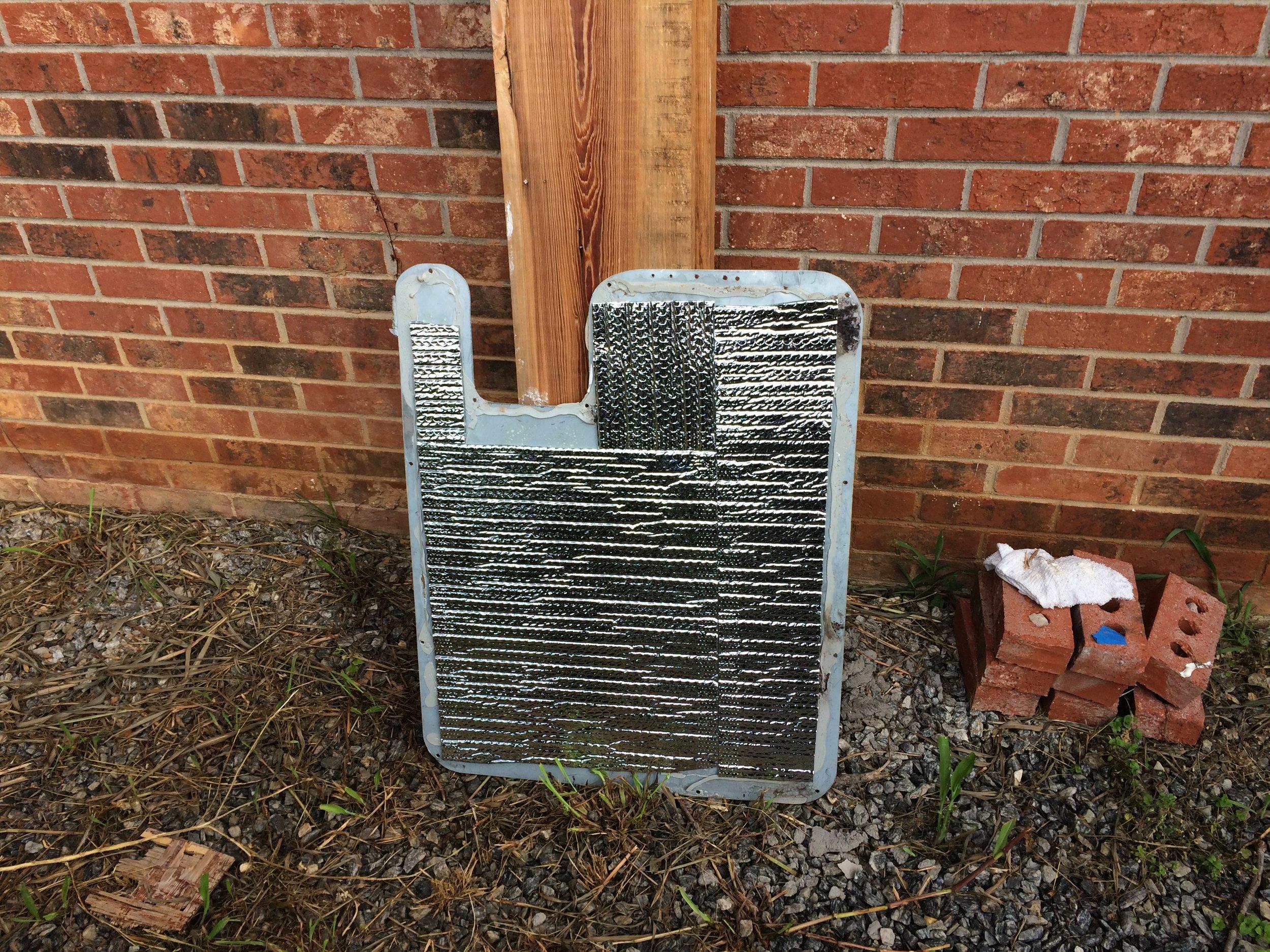 Door Panel Insulation Dried.JPG