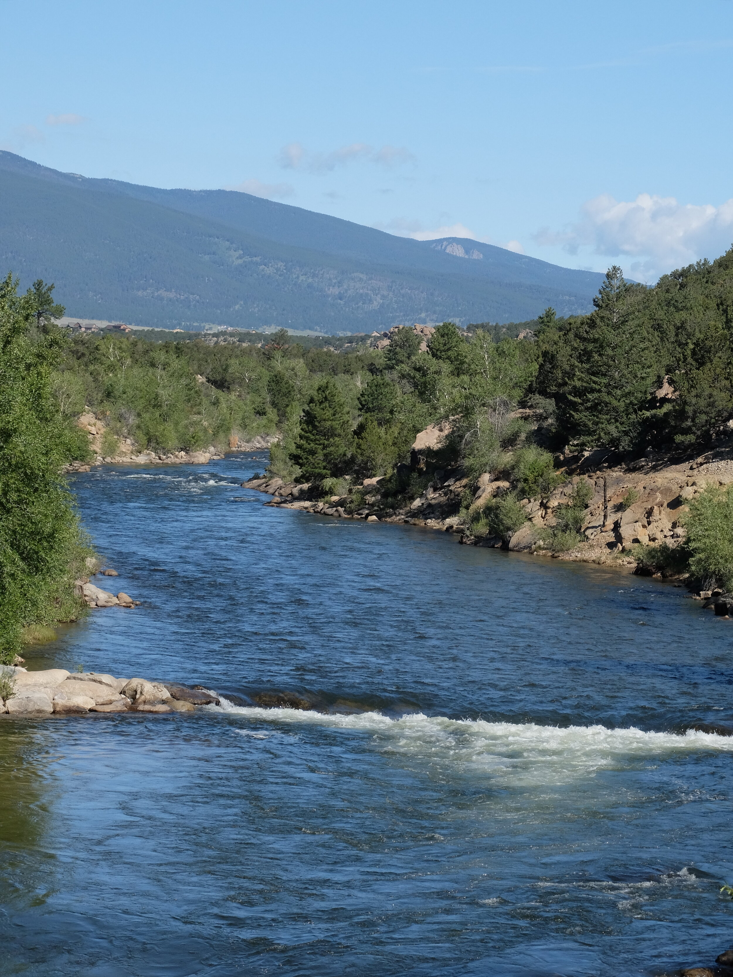 Arkansas River from River Park in downtown Buena Vista