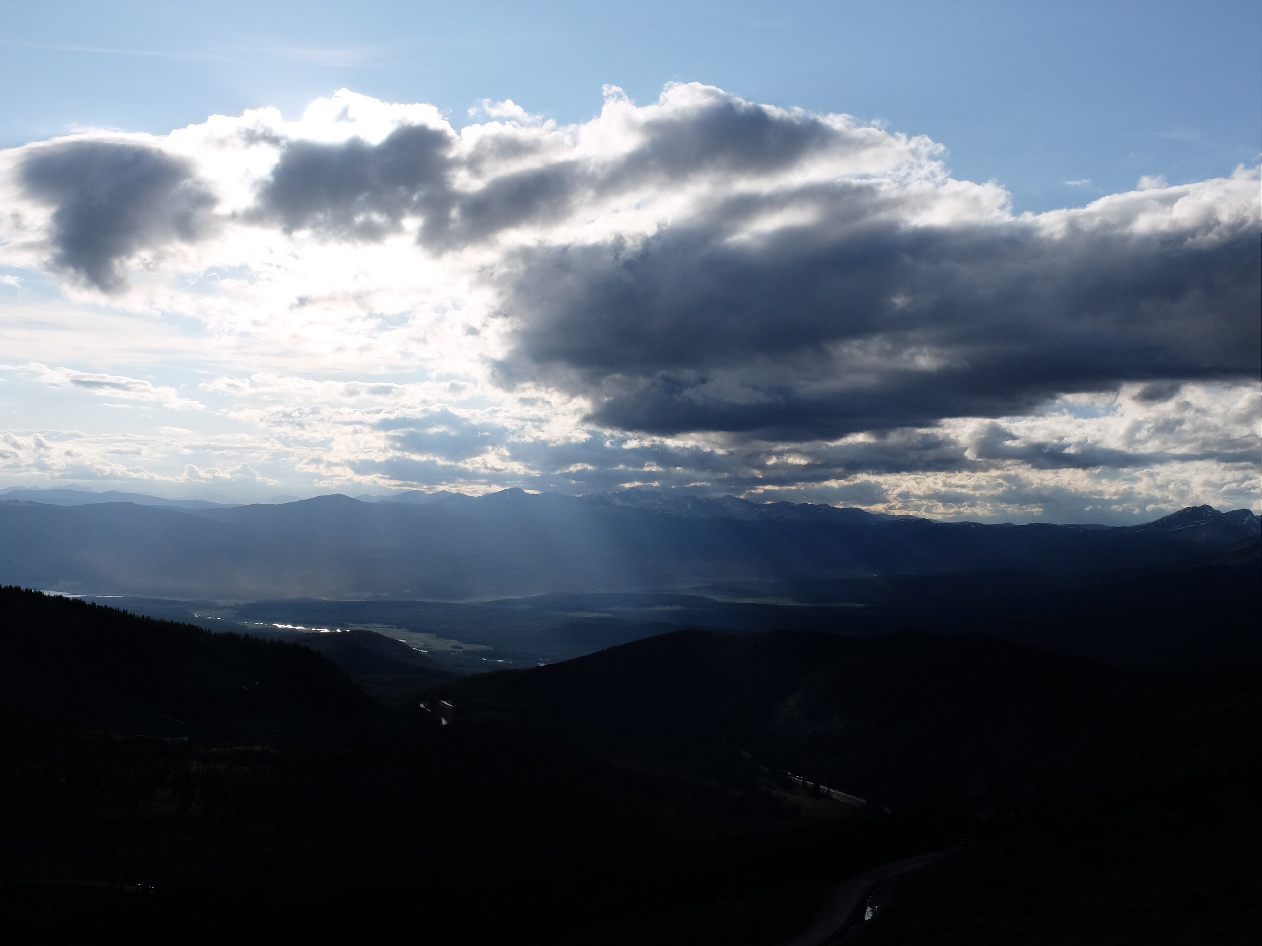 Sunset on the Continental Divide