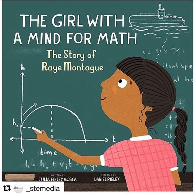 """What an awesome book! Definitely one to add to my Black History library! #Repost @_stemedia with @get_repost ・・・ Looks like another addition to the Daddy-Daughter #reading list 😉 """"The Girl with a #Mind for Math"""" The #story of Raye Montague. A United States Naval #Engineer credited with creating the first computer generated rough draft of a U.S. Naval ship. She was the first female program manager of ships in the#UnitedStates Navy 🇺🇸 .📖 via @theinnovationpress -- #BlackinSTEM #BlackHistory #AmericanHistory"""