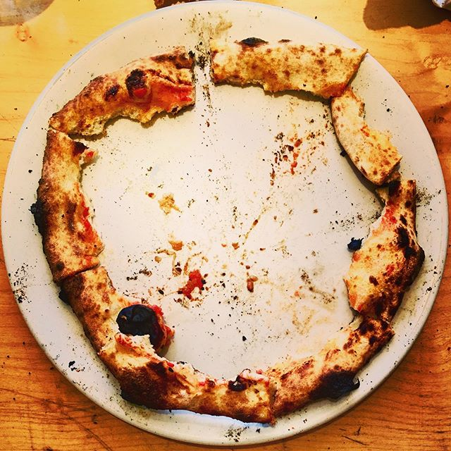 This is how you eat a pizza. yes or no? Enjoying the best crust in town, talking about pre production for our new record, and telling Spider-Man multi verse stories. #lifewitha4yearold #musicianlife #pizzamonsters
