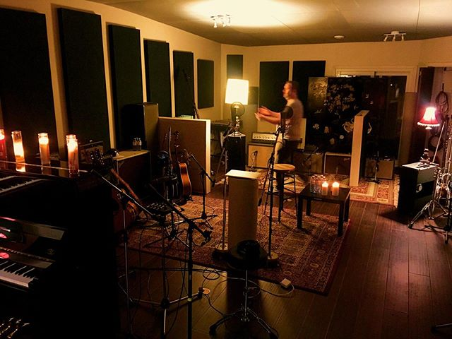Candles n' lamps at #taurusrecording Setting the stage for vocals #newrecord @sixshooterrecords @thomas_knox_darcy @lukedoucet1973 @themightymm