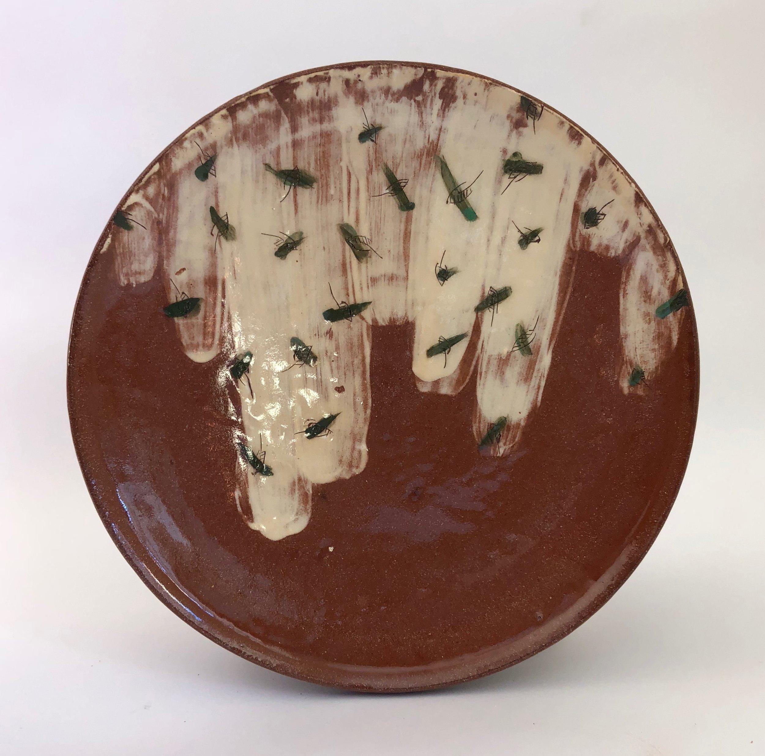 Falling leaves dinner plate