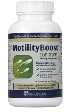 Motility Boost male infertility supplement
