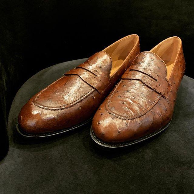Ostrich. Bespoke. Handmade. #Loafers