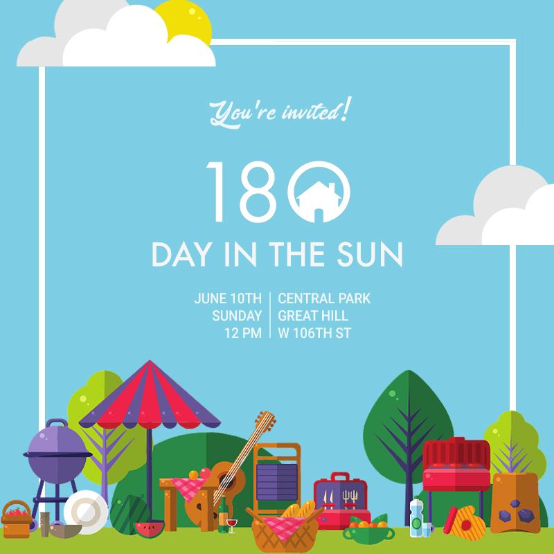 180 Church Event Invitation for Day in the Sun.