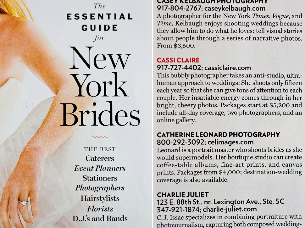 New York Weddings Magazine Photographer - 2