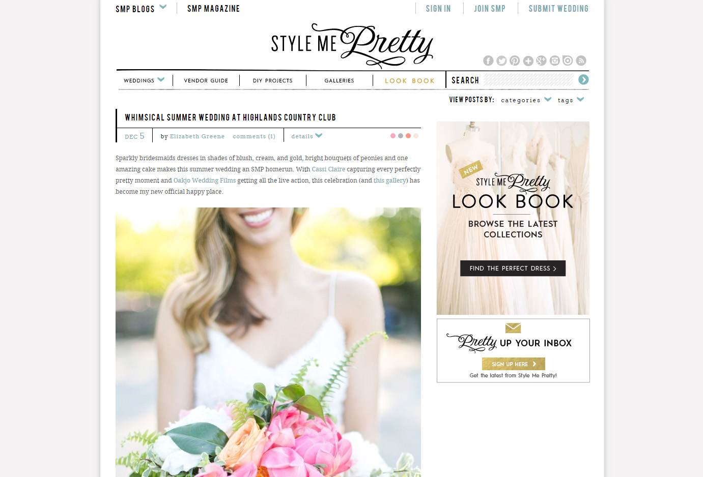 Cassi Claire on Style Me Pretty